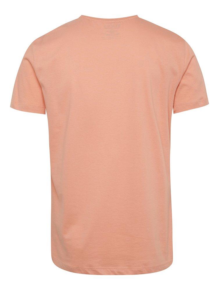Tricou roz Blend cu print