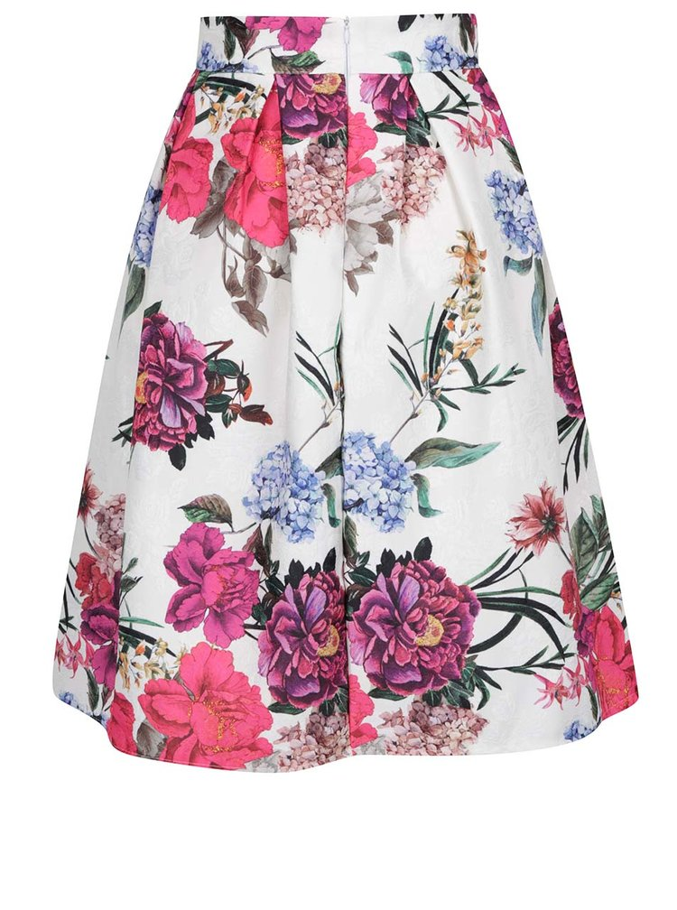 Fusta crem Haily´s SIlly cu model floral