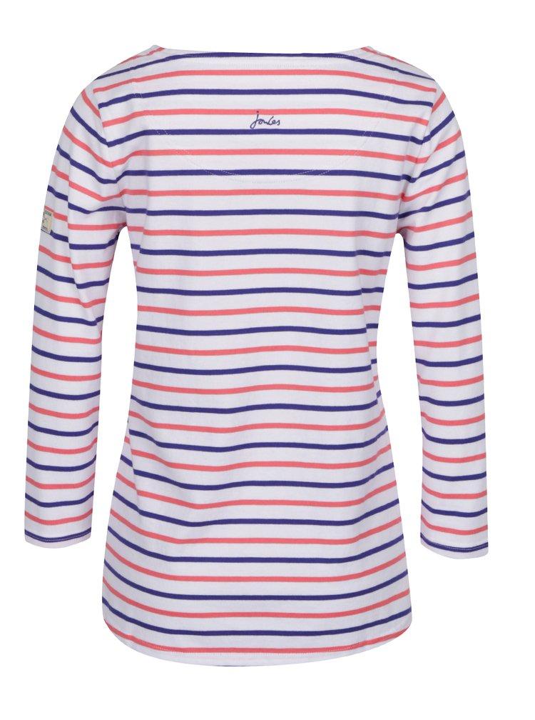 Bílé dámské pruhované tričko Tom Joule Harbour