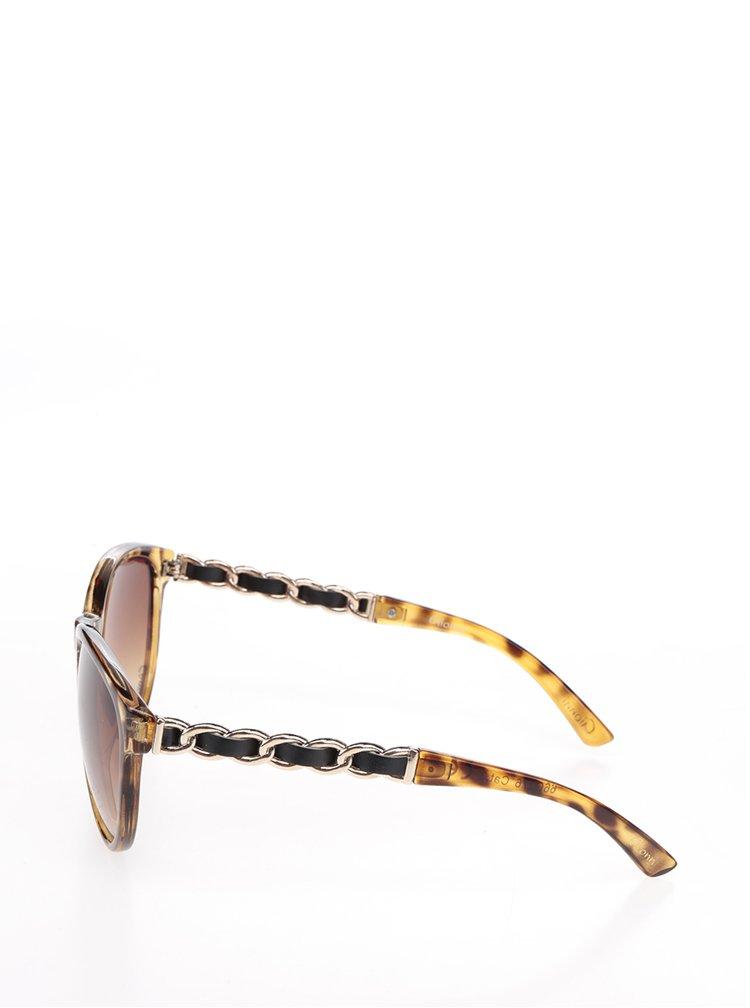 Ochelari de soare maro cu detaliu decorativ Gionni
