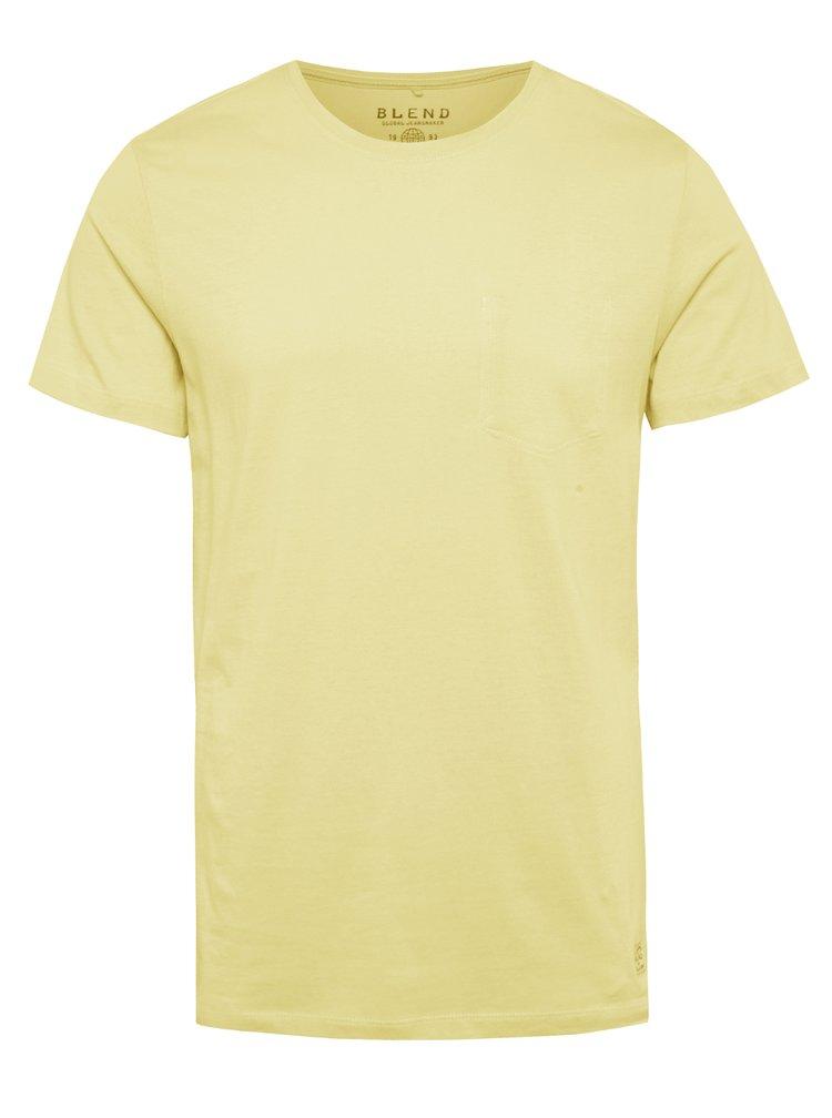 Tricou galben Blend din bumbac