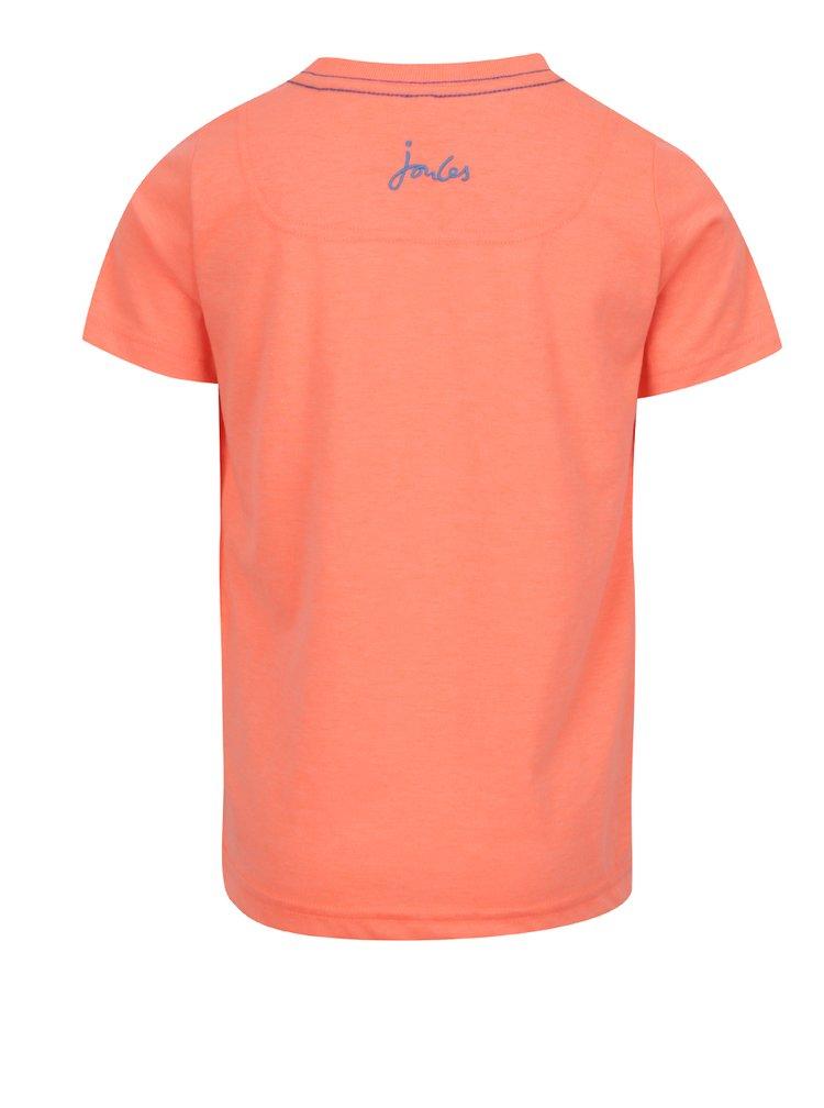 Oranžové klučičí triko s potiskem Tom Joule