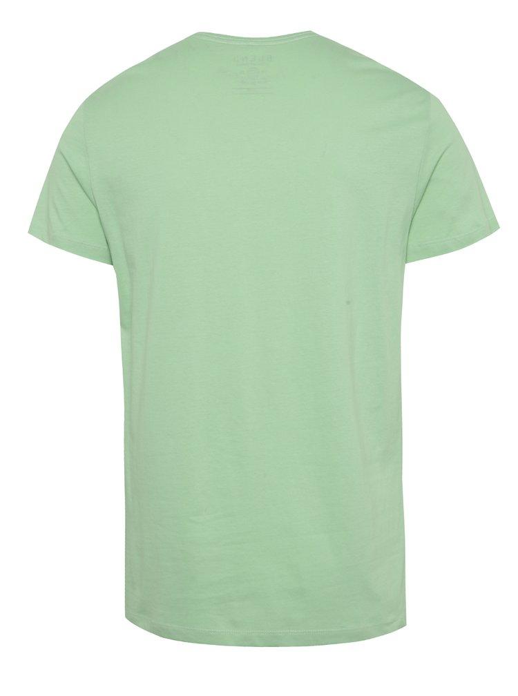 Tricou verde deschis Blend din bumbac