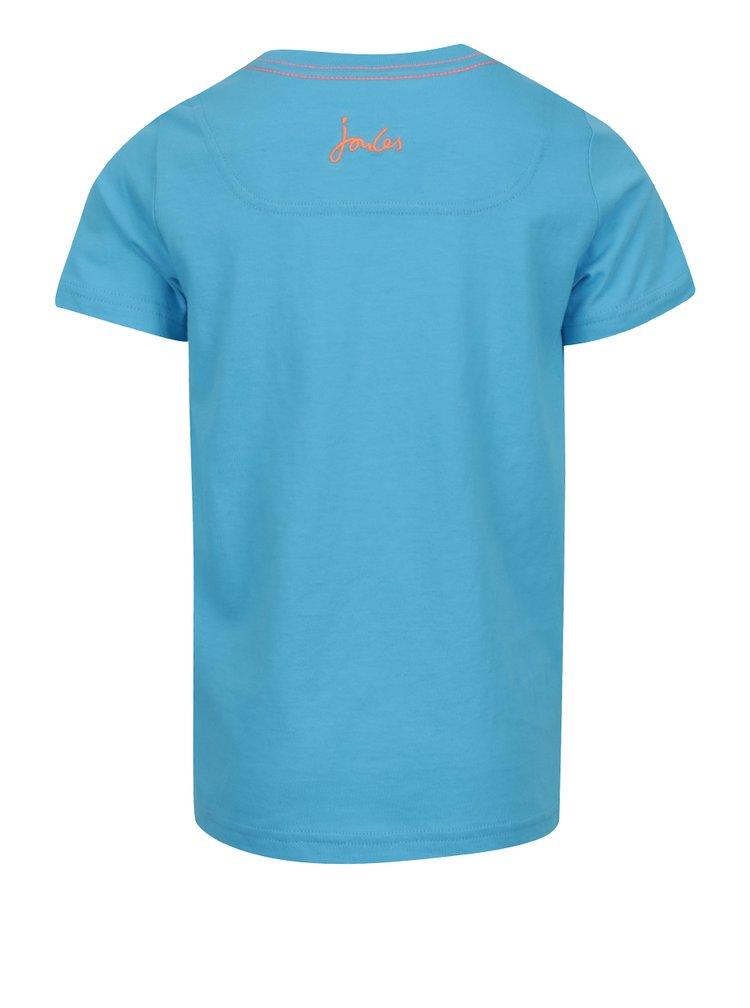 Modré klučičí triko s potiskem Tom Joule