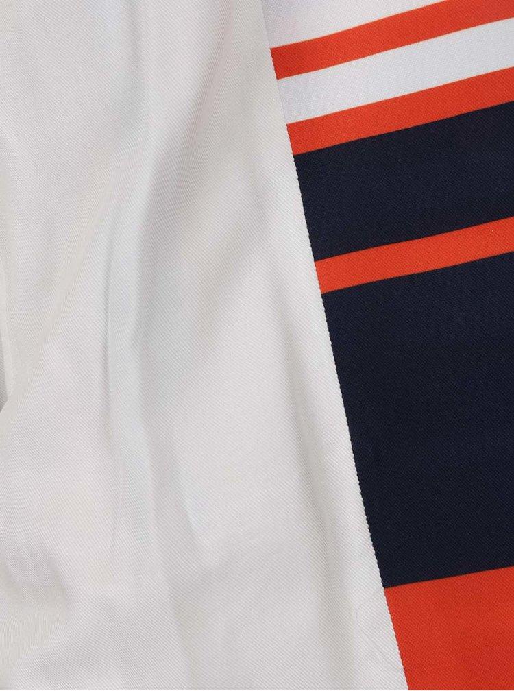 Oranžovo-modré pruhované sako NISSA