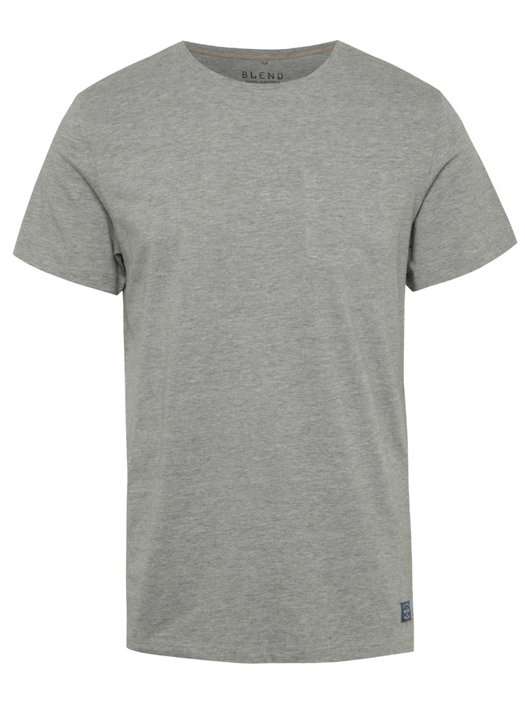 Šedé regular fit triko s imitací náprsní kapsy Blend