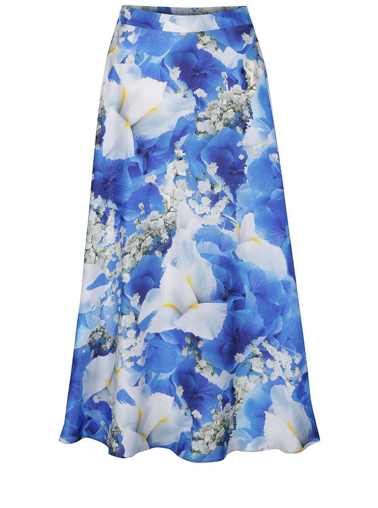 Modrá sukně s květovaným potiskem NISSA