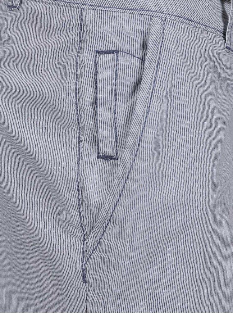 Pantaloni chino crem&albastru pentru femei - s.Oliver