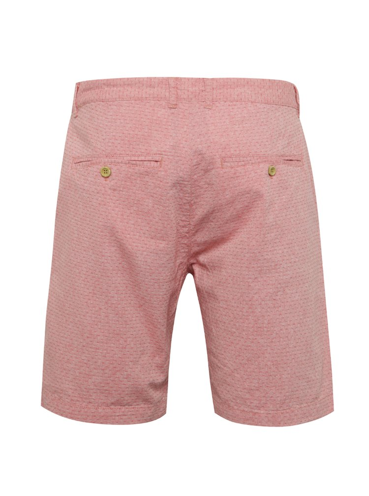 Pantaloni scurti roz Blend din bumbac