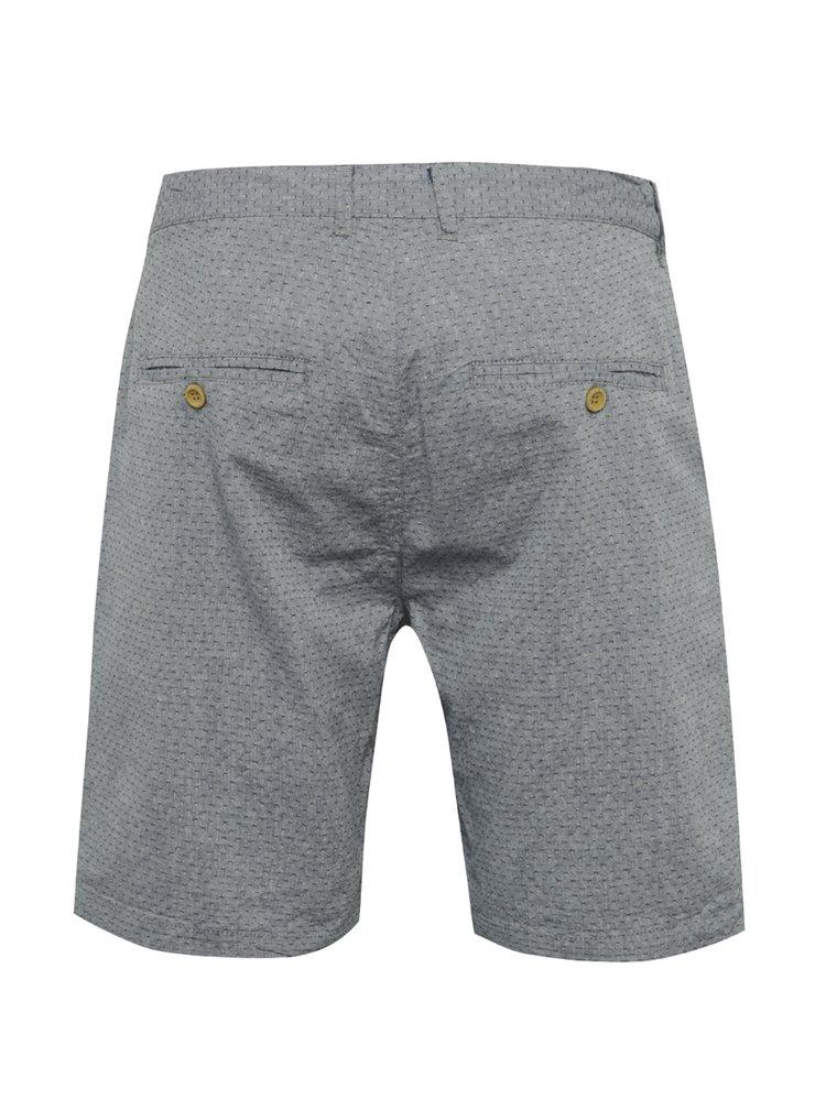 Pantaloni scurți albastru deschis Blend din bumbac