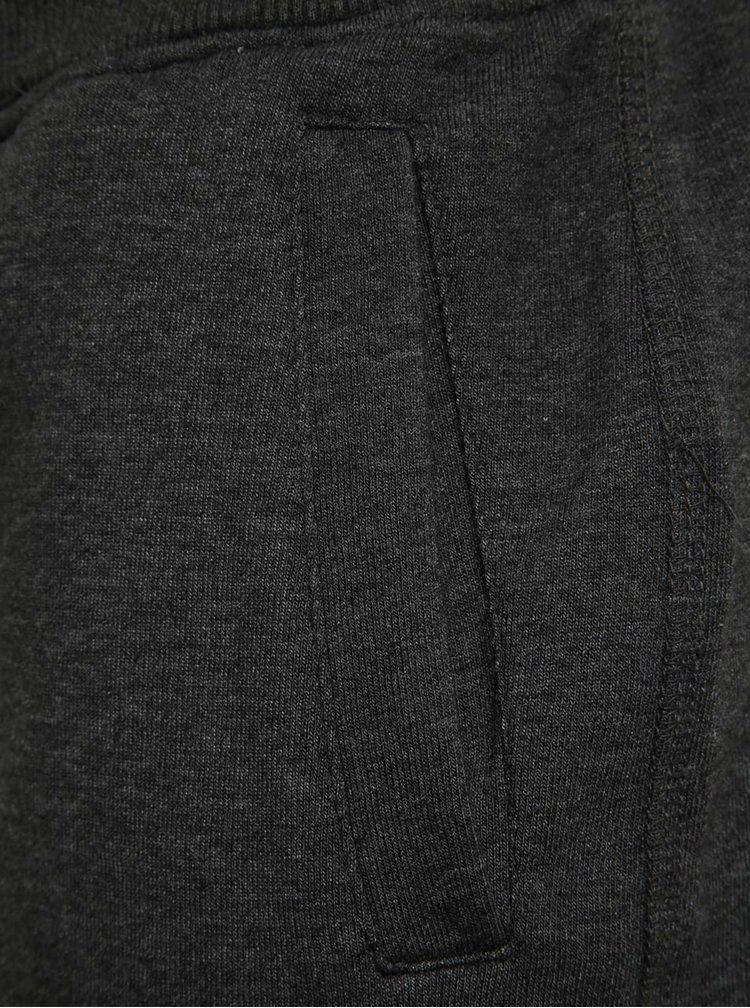 Tmavě šedé teplákové kraťasy Blend