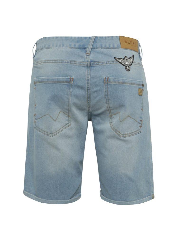 Modré džínové kraťasy s nášivkami Blend