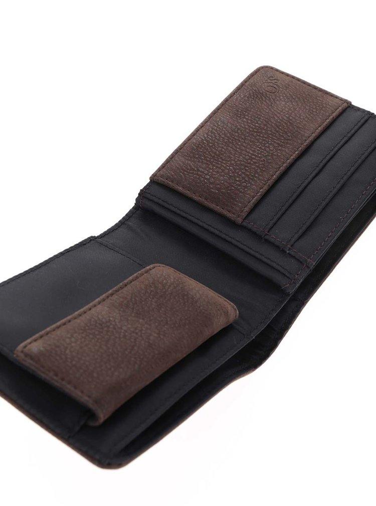 Tmavě hnědá pánská koženková peněženka s.Oliver