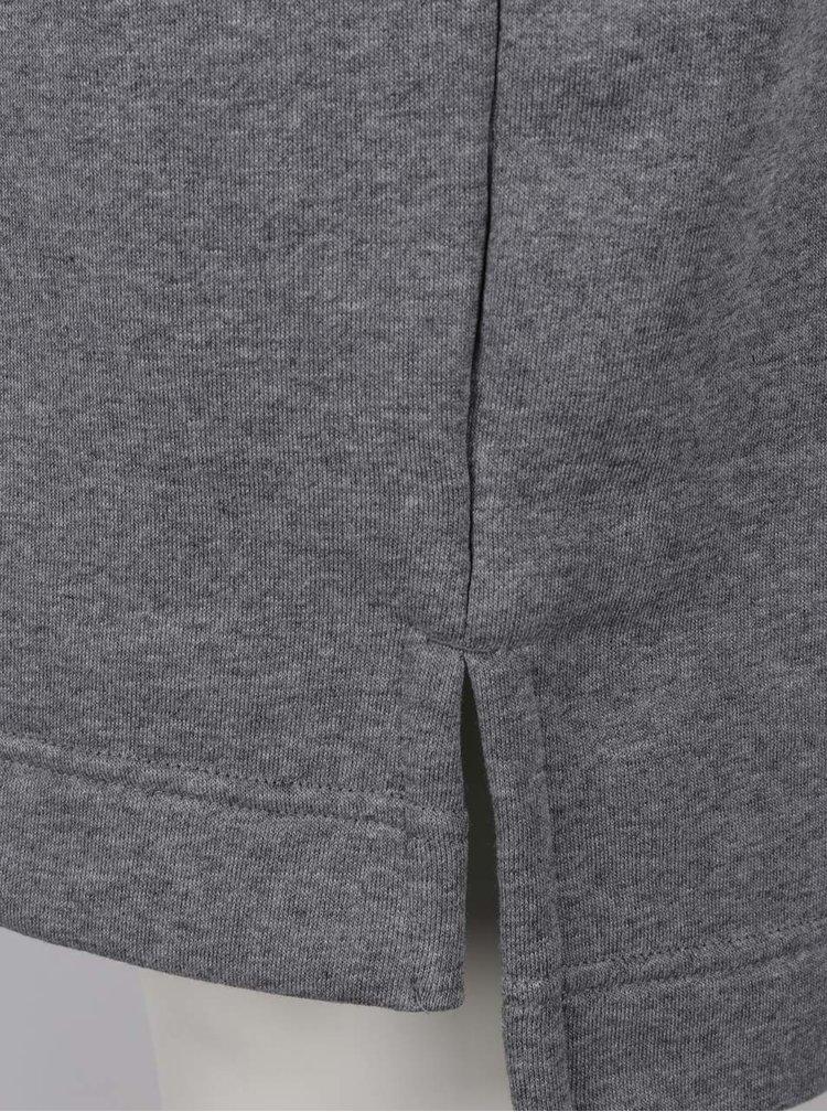 Šedé dámské oversize sportovní šaty s krátkým rukávem Nike