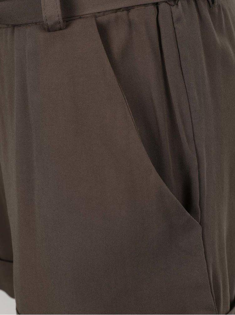 Khaki kraťasy se zavazováním v pase Haily´s Lucia