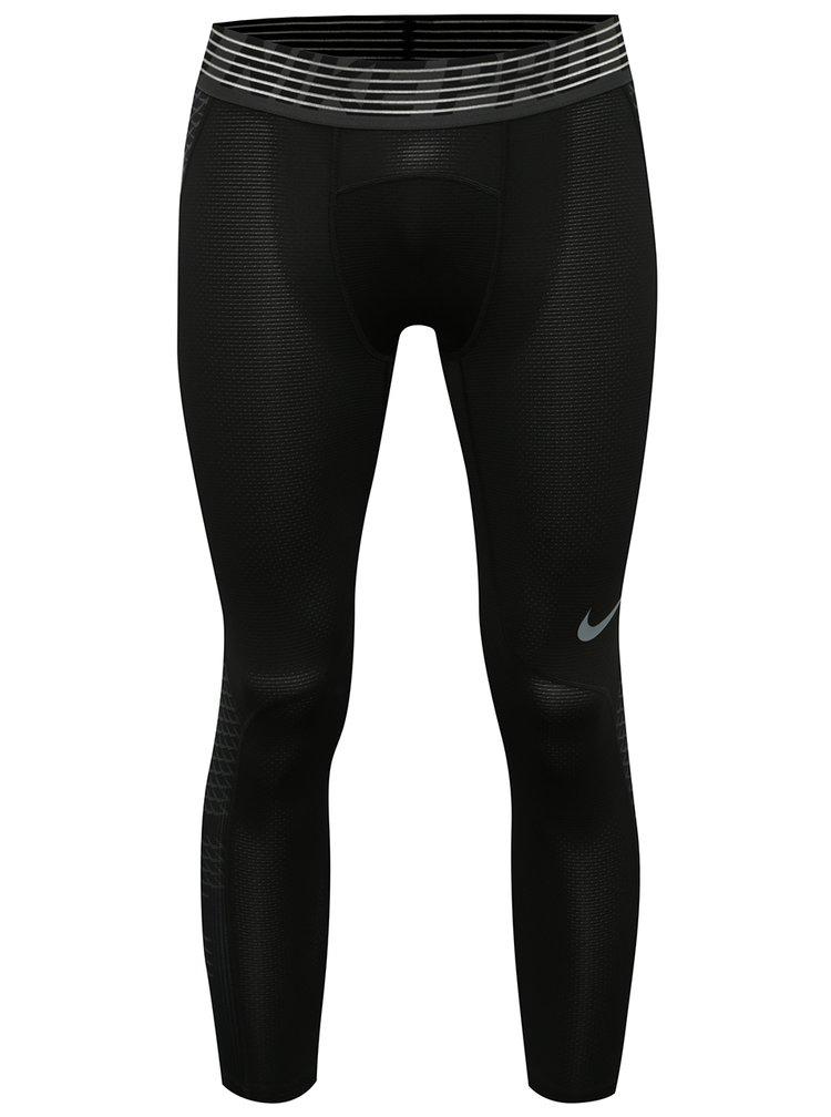Černé pánské funkční 3/4 legíny Nike Pro HyberCool