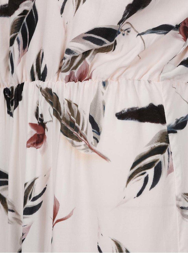 Béžové květované maxišaty Haily´s Doris