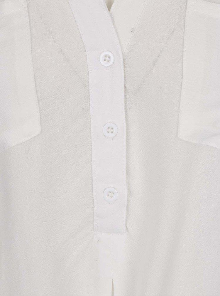 Bílá halenka bez rukávů s detaily Haily´s Angie