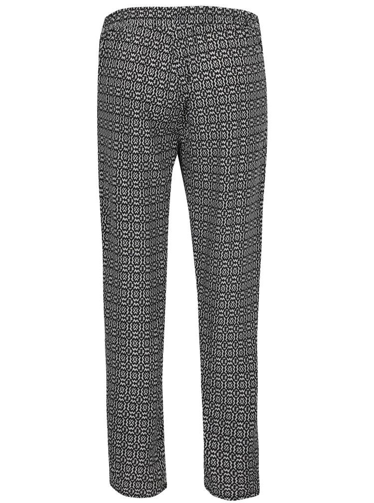 Pantaloni alb & negru Haily´s Ricky  cu model geometric