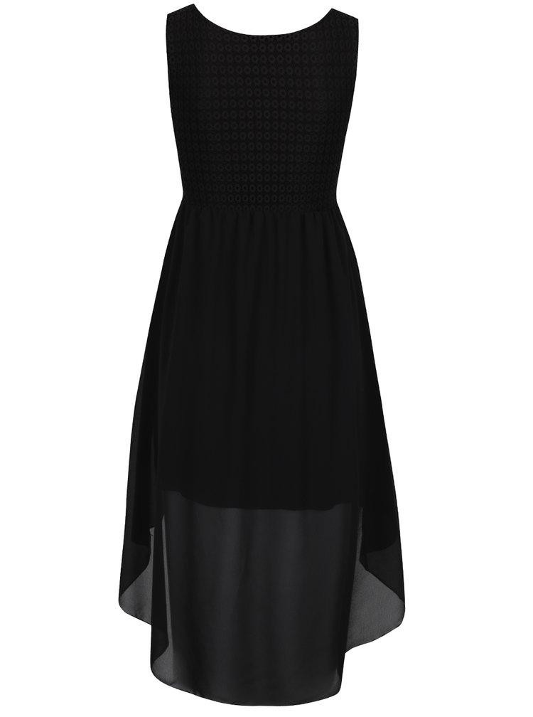 Rochie neagră Haily´s Jacy  cu detalii in dantelă