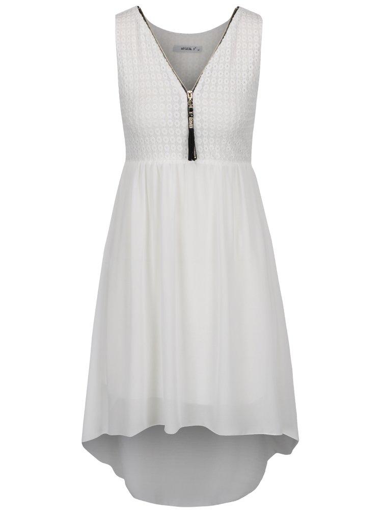Krémové šaty s krajkovaným topem Haily´s Jacy