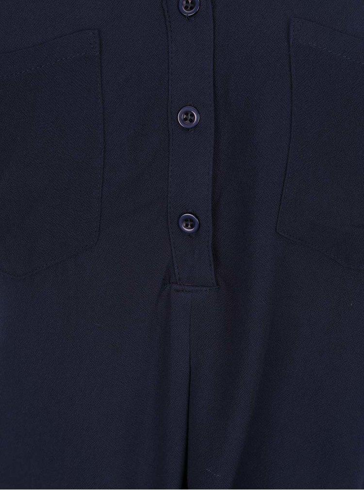 Tmavě modrá halenka bez rukávů s detaily Haily´s Angie