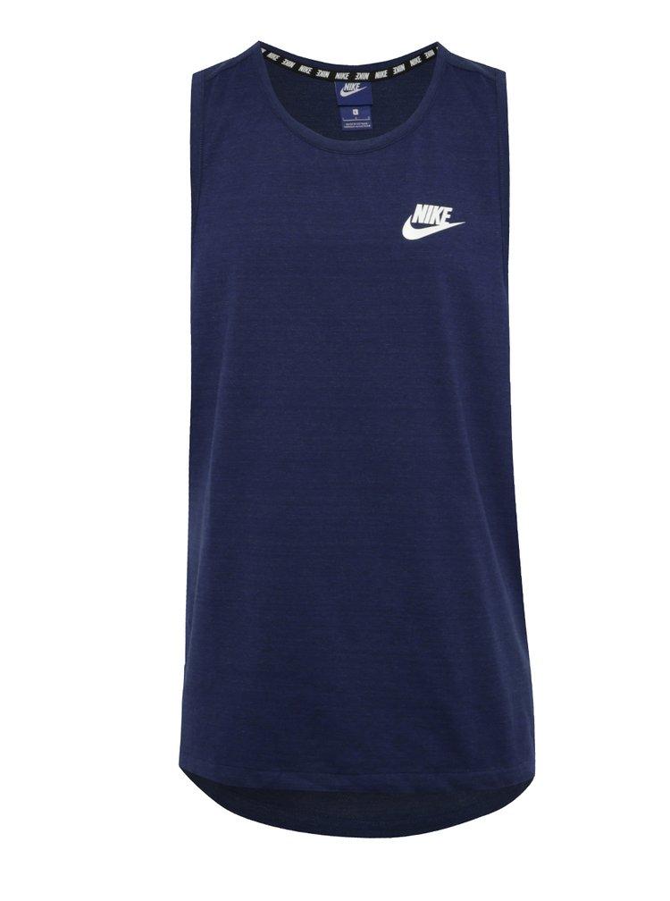 Tmavě modré žíhané pánské tílko Nike Sportwear Advance 15