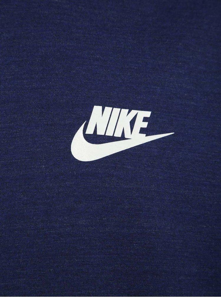 Tmavě modré žíhané pánské tričko Nike Sportswear Advance 15