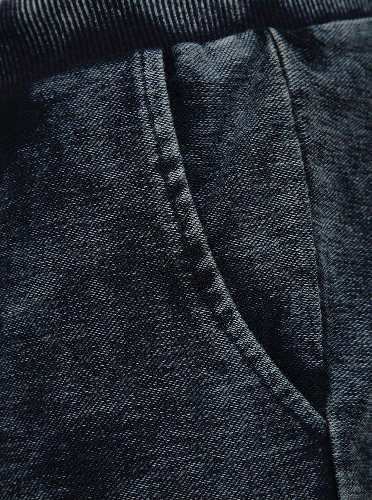 Tmavě modré žíhané teplákové kraťasy ONLY & SONS Lutz
