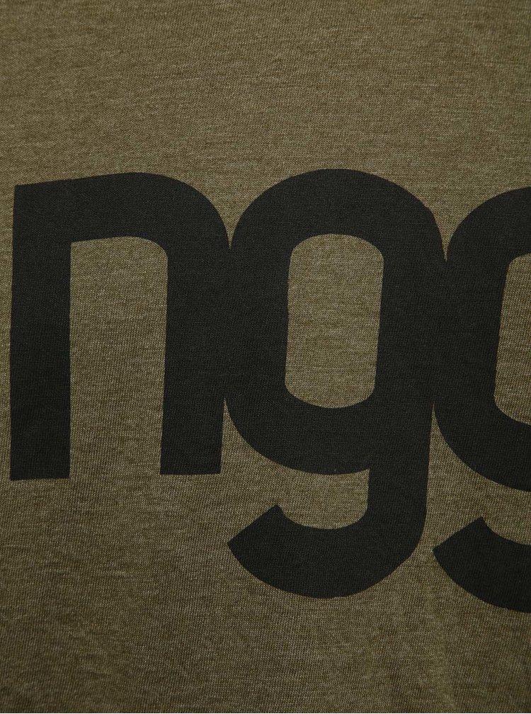 Černo-zelené pánské tričko s potiskem NUGGET Asset