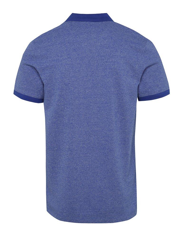 Modré žíhané polo triko Selected Homme Lau