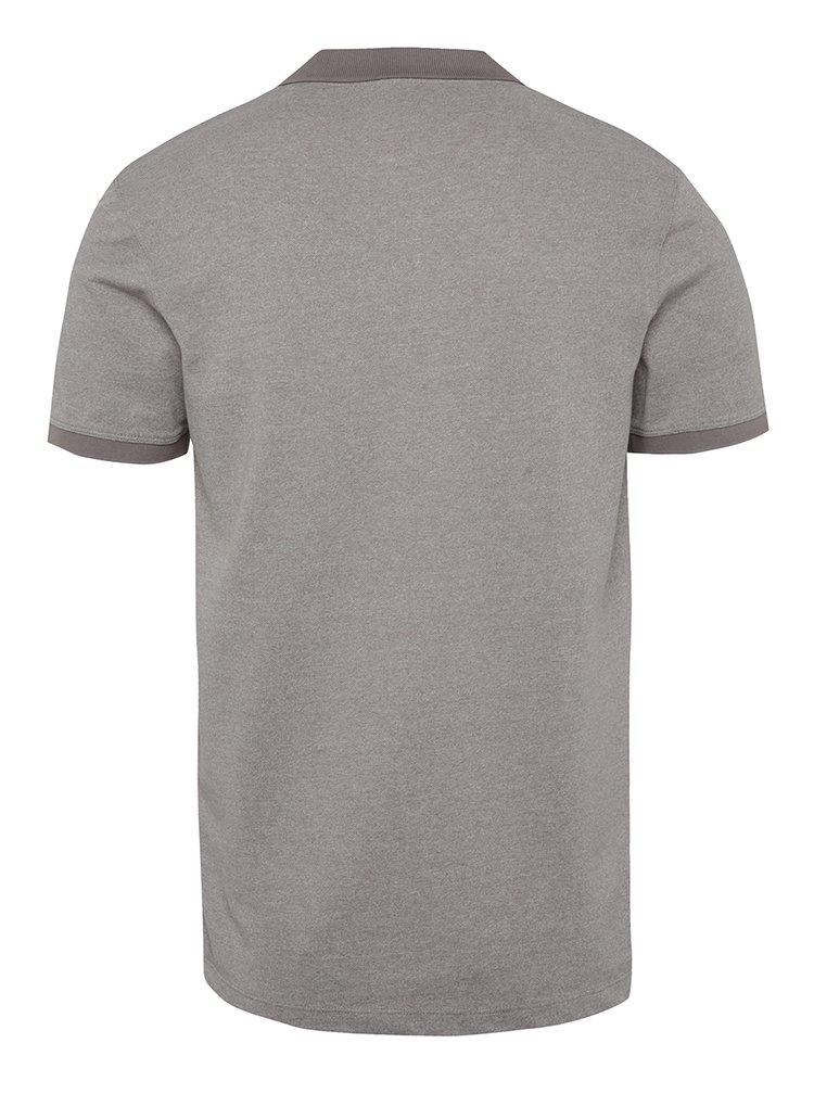 Šedé žíhané polo triko Selected Homme Lau
