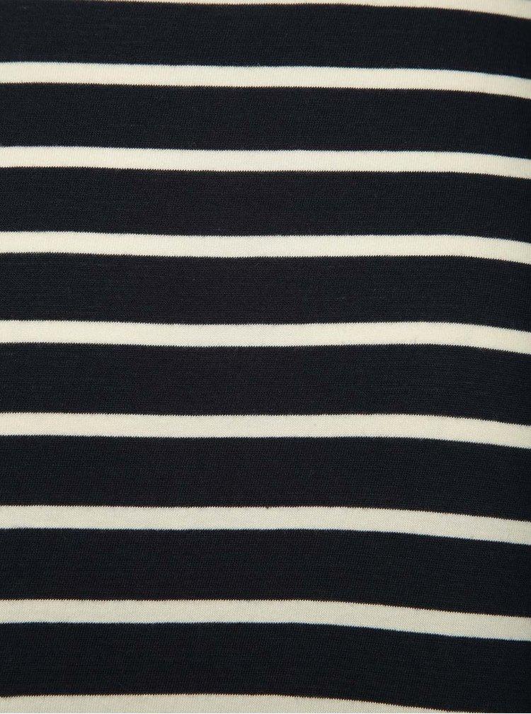 Tricou bluemarin oversize Selected Homme Pure în dungi