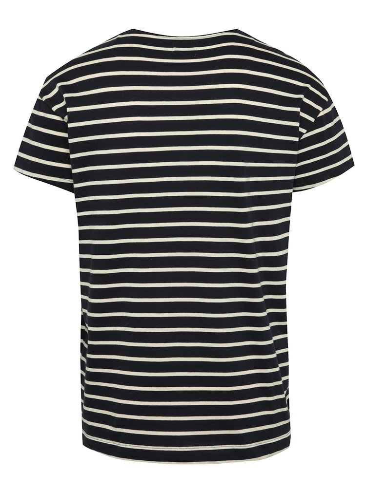 Tricou bluemarin oversize Selected Homme Pure in dungi