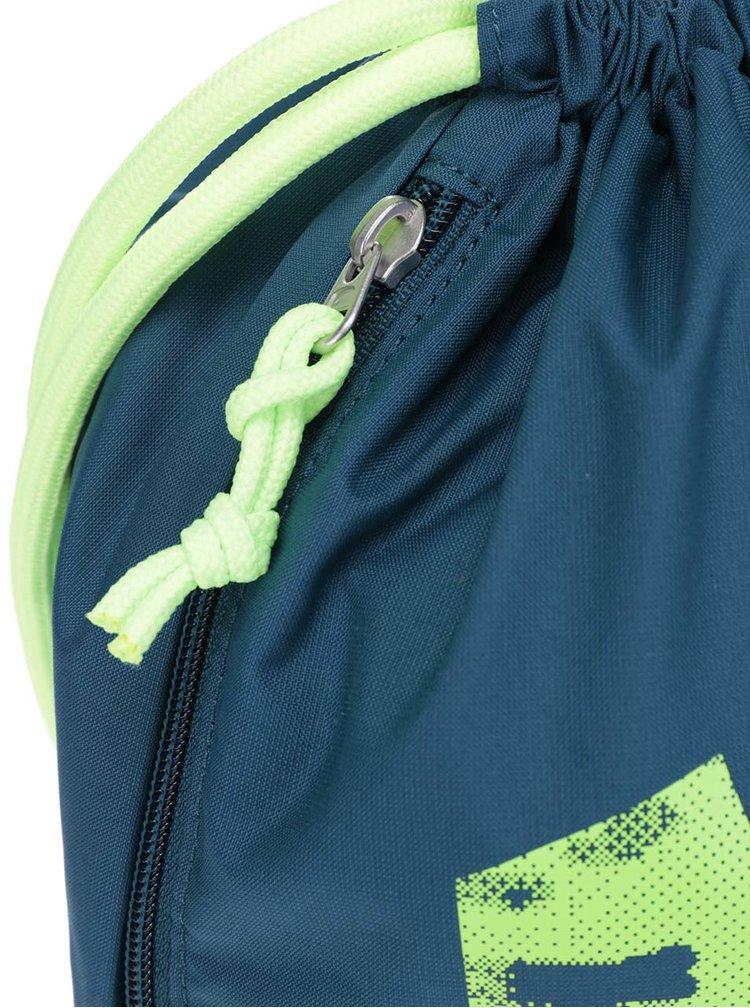 Pánský vak v petrolejové barvě s neonovým potiskem Nike
