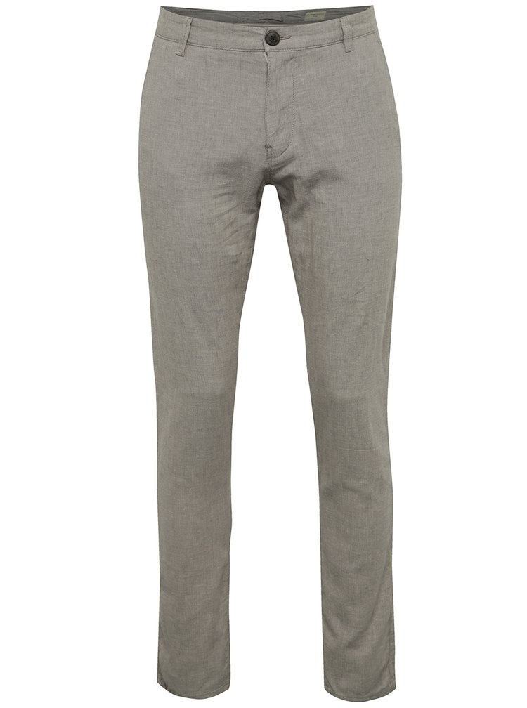 Pantaloni chino gri melanj Selected Homme Paris
