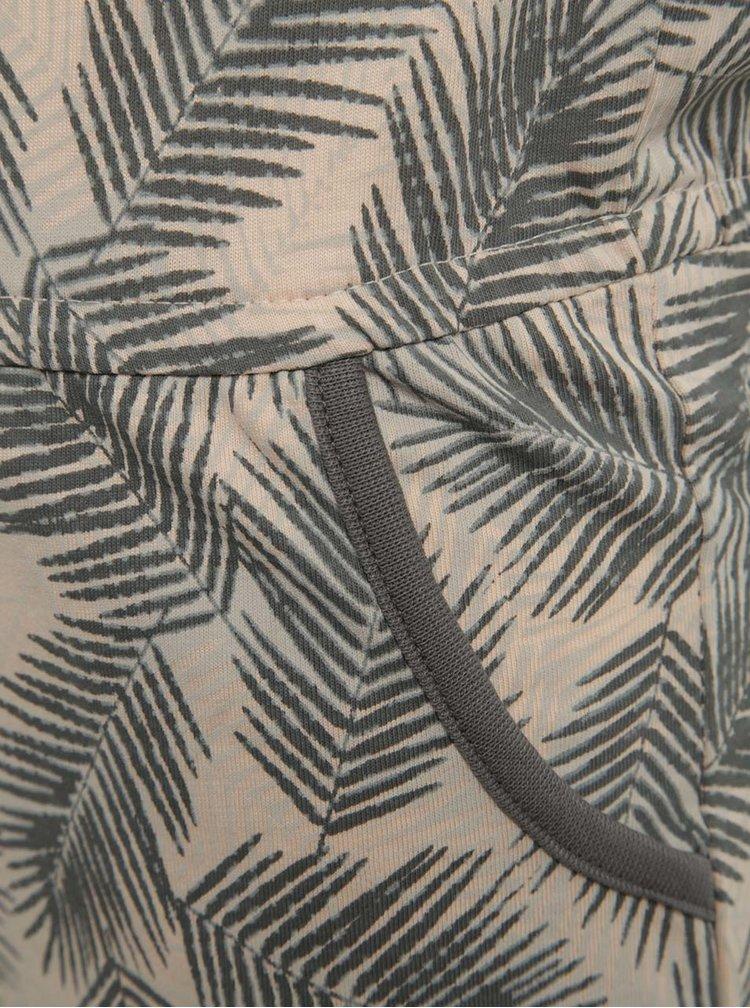 Růžovo-šedý holčičí vzorovaný krátký overal name it Viggajo