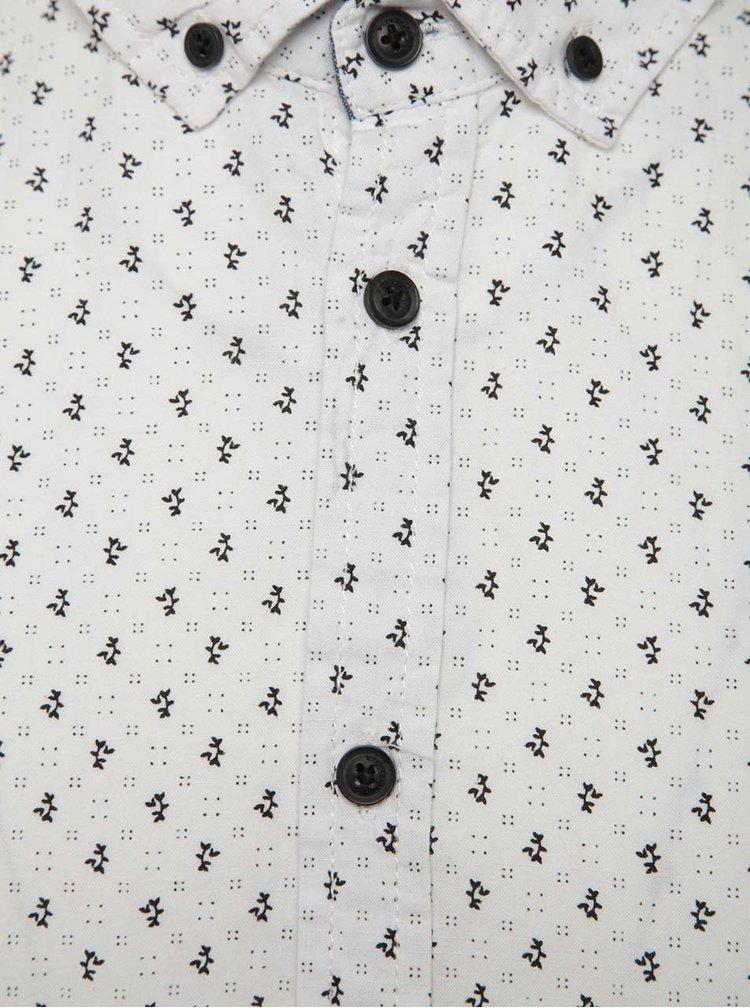 Bílá vzorovaná košile s krátkým rukávem Blend