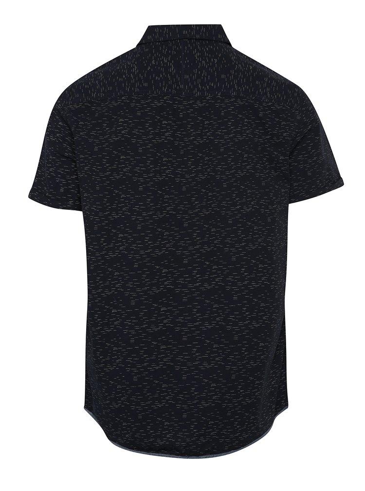 Tmavě modrá vzorovaná košile s krátkým rukávem Blend