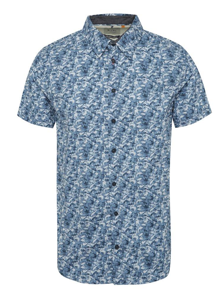 Modrá vzorovaná košile s krátkým rukávem Blend