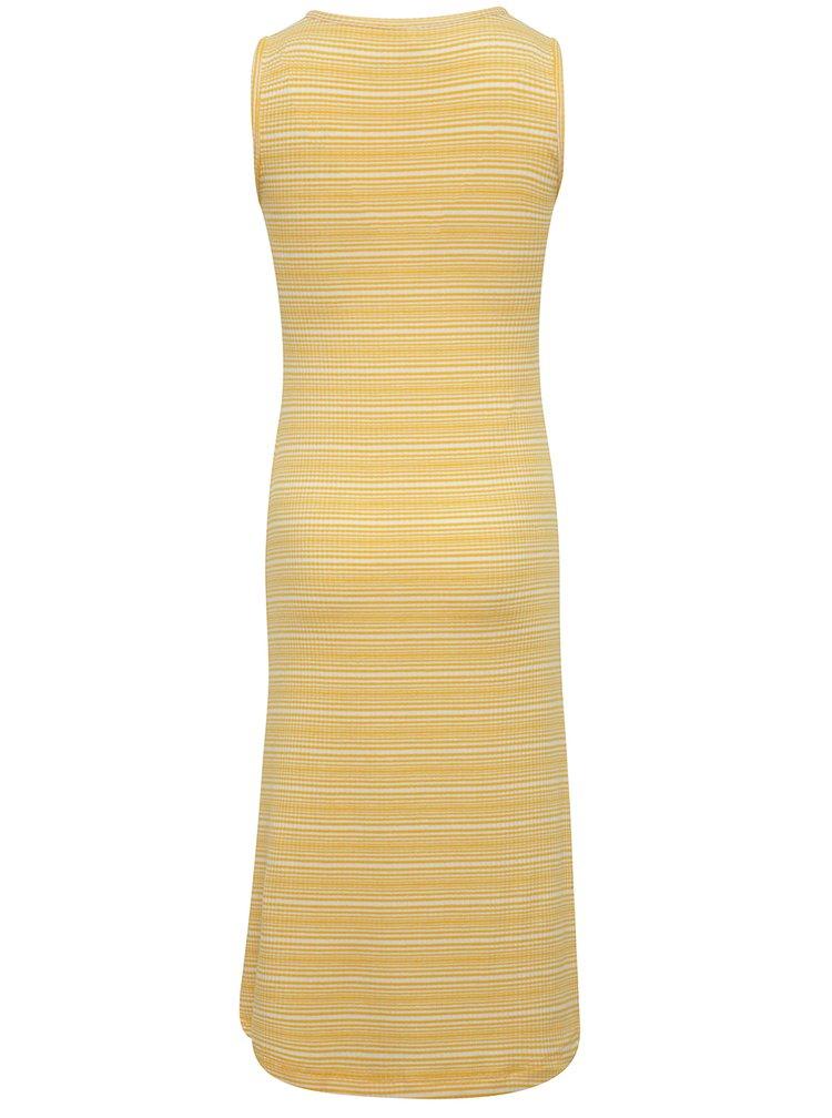 Bílo-žluté holčičí pruhované dlouhé šaty name it Jisola