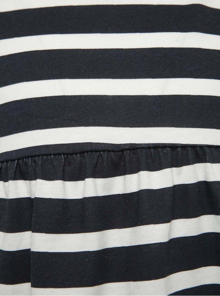 Krémovo-modré holčičí pruhované šaty name it Viggajo
