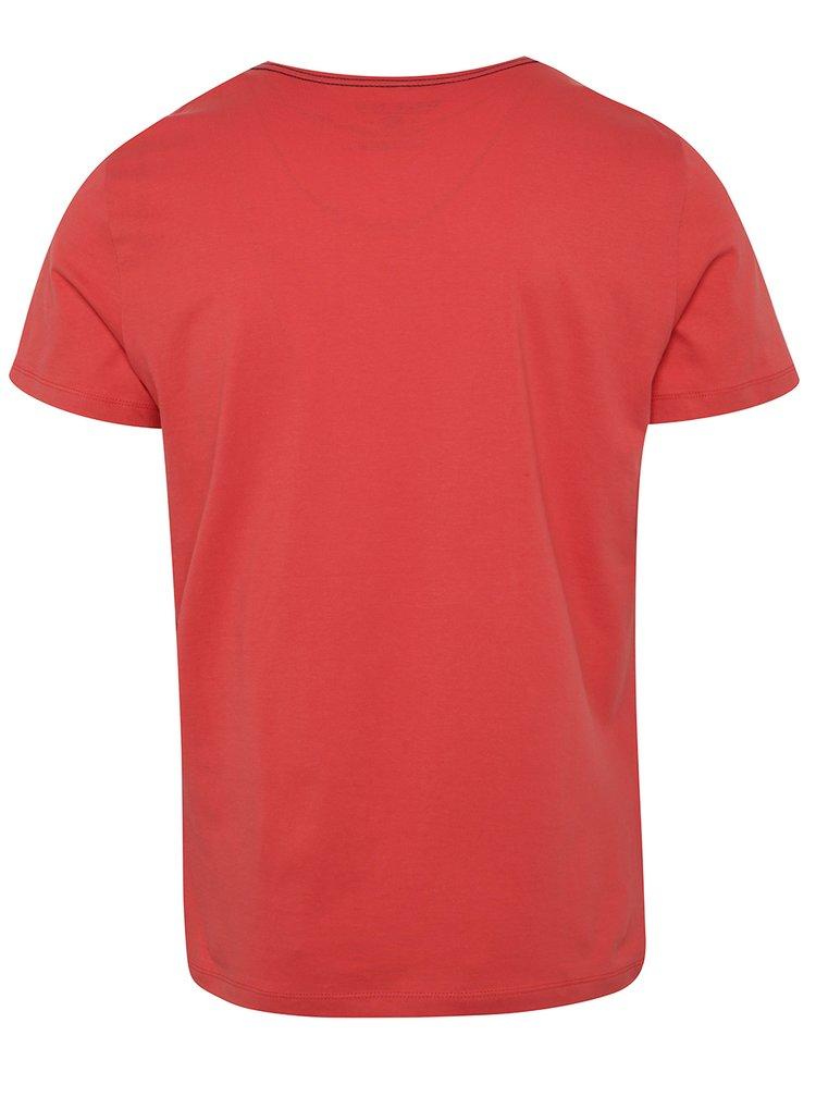 Tricou roșu Blend cu print cu text