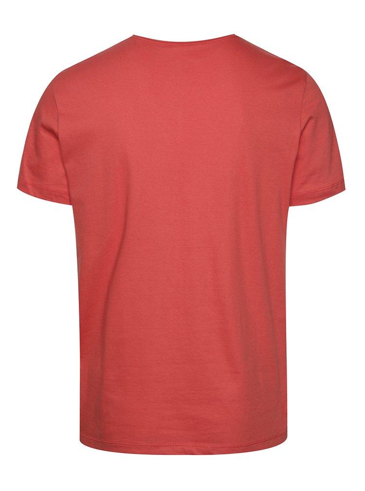 Tricou roșu Blend din bumbac