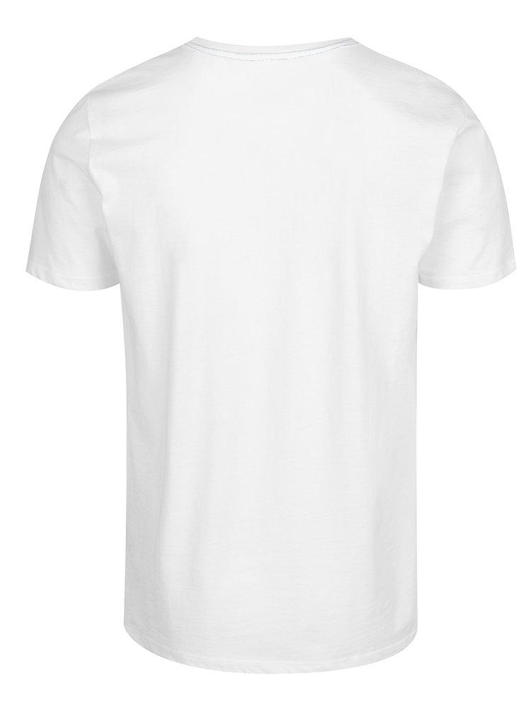 Tricou alb Blend cu print