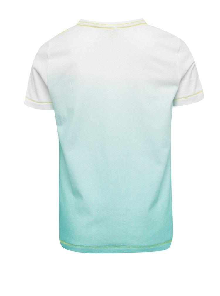 Modro-bílé klučičí triko s potiskem name it Johan