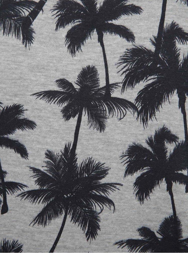 Maoiu gri Blend cu imprimeu tropical