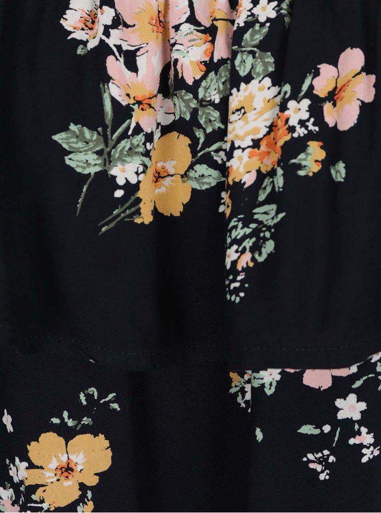 Top albastru închis Jacqueline de Yong Kayleigh cu imprimeu floral