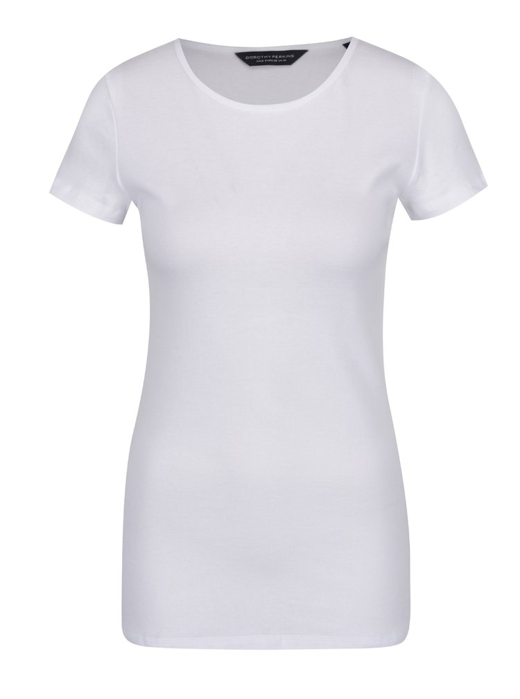 Tricou alb Dorothy Perkins Tall din bumbac