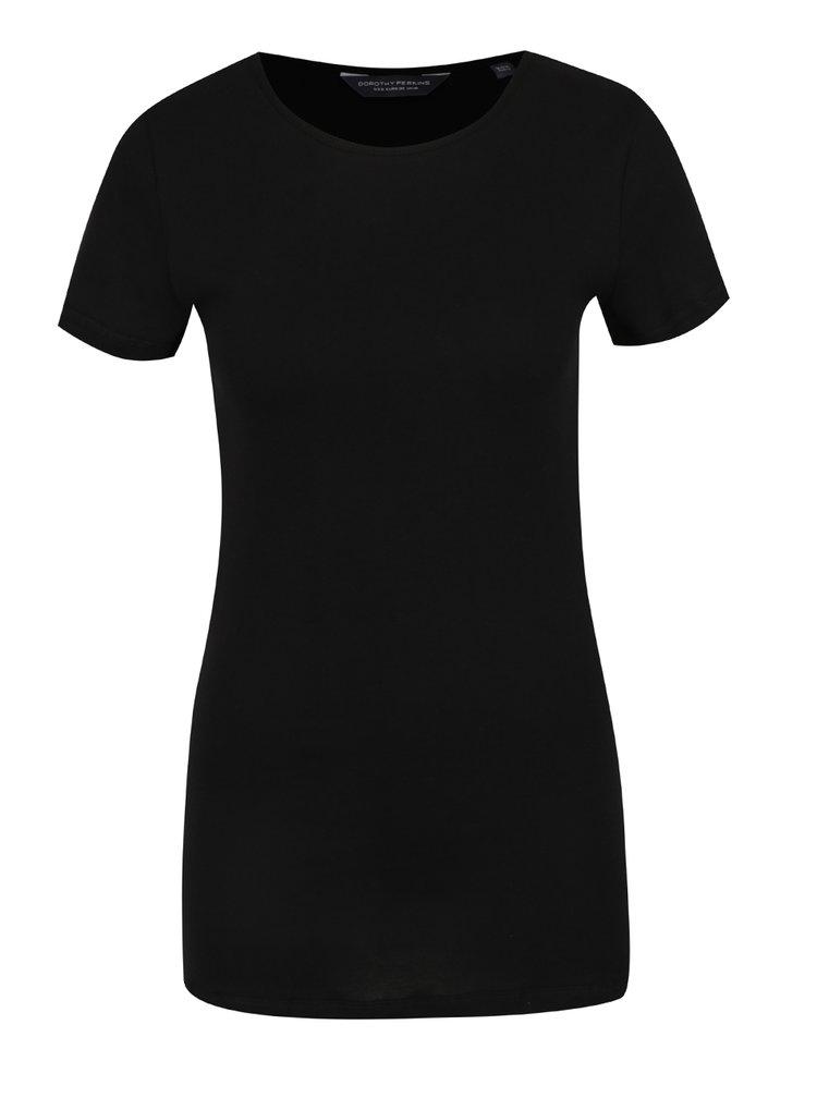 Černé basic tričko s krátkým rukávem Dorothy Perkins Tall
